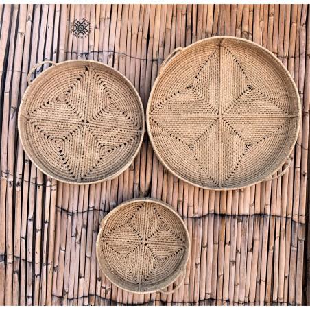 handmade round tray in...