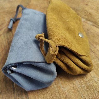 leather or suede hand made...