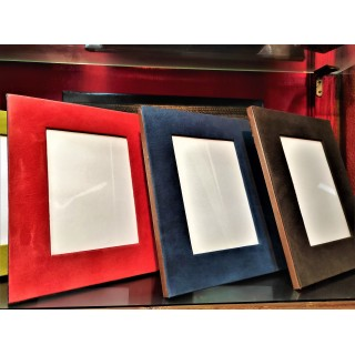 coloured suede picture frame