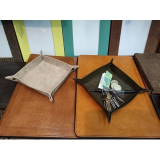 handmade leather tray