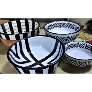 salad bowl and bowl black &...