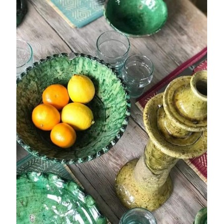 tamgroute pottery fruit bowl