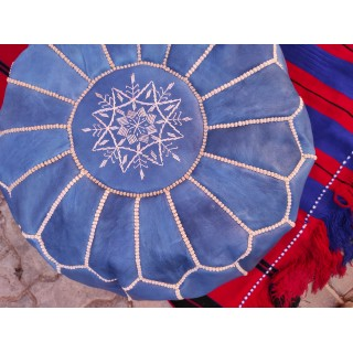 round embroidered leather...