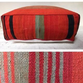 hand woven moroccan ottoman