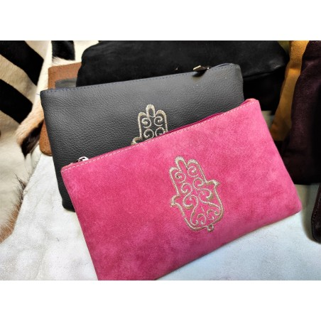 leather or suede pouch