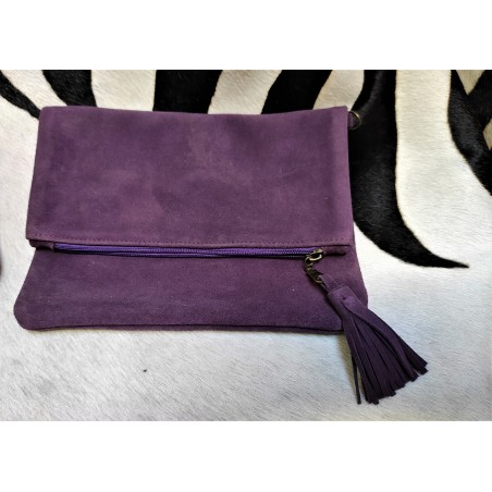 zippered, leather or suede...