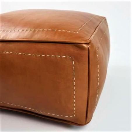 square moroccan leather...