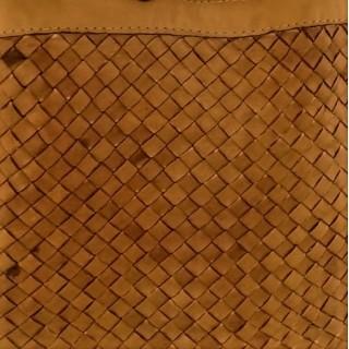 """Boho"" plaited leather tote..."