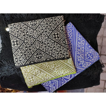 zippered pouch in Moroccan...