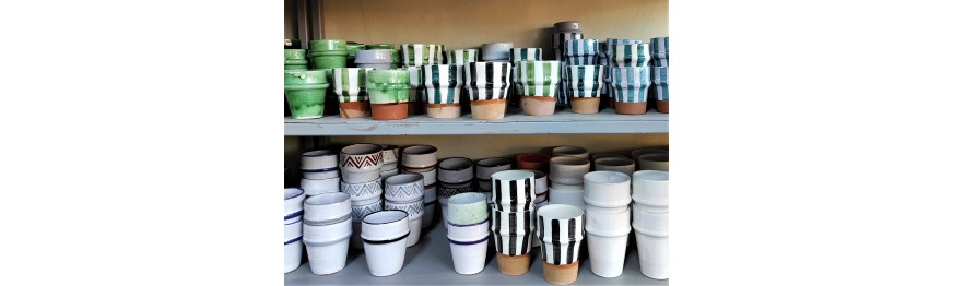 kissan, beldi pottery glasses